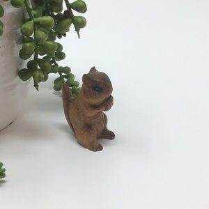 VINTAGE Carved Wood Chipmunk